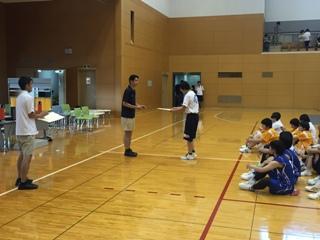 バスケットボール部 私学大会 表彰式_縮小